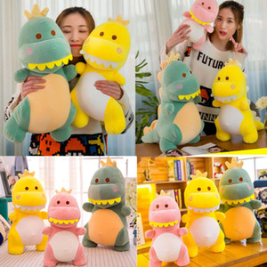 30 40 50 60cm Cartoon Animal Dinosaur Plush Toy Throw Pillow Birthday Kid Gifts