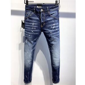 Azul Designer Luxury Jeans Mens Marca Street Wear Denim Pants afligido Ripped Jeans Motorcycle Buracos Calças de luxo Denim Jean 2020740K