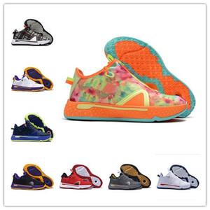 Yeni PG 4 PE Erkek Basketbol Ayakkabı IV Turuncu siyah donanma PG4 tasarımcı NASA 4s Eğitmenler Erkekler kadınlar Spor Spor ayakkabılar