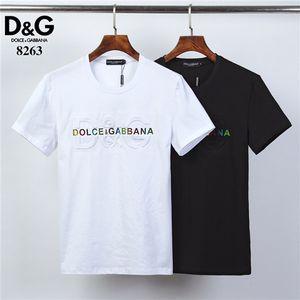 2019 Yeni tasarımcı kaliteli pamuk yeni O-boyun kısa kollu tişört erkek tişört moda tarzı spor tişört FR7