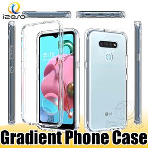 Gradiente Limpar Phone Case para Samsung S20 S10 A91 A70E LG K61 K51 Stylo 6 MOTO E7 uma ação OnePlus 8 Pro izeso