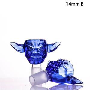 14mm Schädelglas Raucherschale 18mm Schüsseln für Wasserglas Bong Schüssel Kopf-Tabakkrautschüsseln