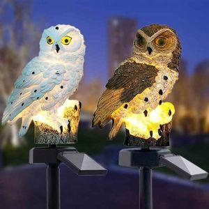 Wasserdichtes Solar Power LED-Licht Garten-Weg-Yard Rasen Owl Tierornamentik Lampe