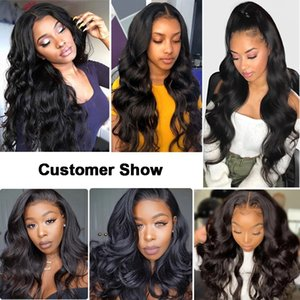 laurinda cheveux de vague de corps avant de dentelle perruque Perruques Capillaires Cheveux naturels vague de corps 13x4 / 13x6 Lace Front Wigs et vous envoyer un masque n95 gratuit