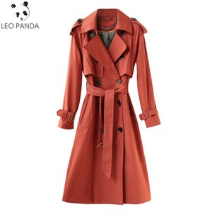 2020 New Women's Clothes Trench Coat Spring autumn Sashes Cloak Dust Coat Slim Outerwear Lady Long Windbreakers Coats Female