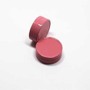 10G فارغة الأبيض الوردي الألومنيوم مستحضرات التجميل كريم الجرار، سيارة الشمع الحاويات، والأغطية، والألمنيوم جرة، جرة فارغة الألومنيوم التخزين المعدنية