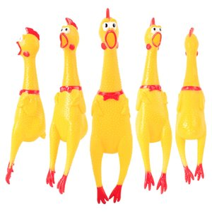 Scream The Chicken Children Toys Fun Rubber Yellow Pet Squeaky Chew Toy Decompression Toys for Party Gift