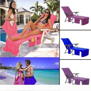 Sunbath Chair Cover 73*210cm Lounger Mate Beach Towel Portable Magic Ice Towel 3 Colors 10pcs OOA4774
