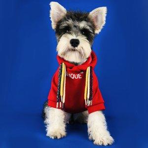 Tide Dreadlocks vêtements pour chiens Designer Marque Pet Sweats à capuche avec chapeau d'hiver Cat Dog Sweat-shirts Teddy Bulldog Vêtements Schnauzer