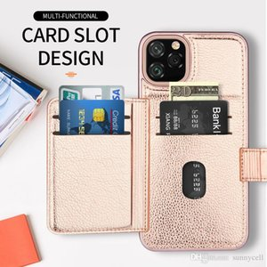For Samsung Note 10 Plus A10E A20 A30 Card Slot Design Comfortable Touch Dual Layer Hybrid Phone Case Cover