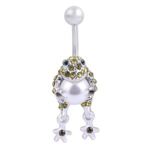 Stainless Steel Animal Dangle Navel Ring Belly Piercing Kit Belly Button Rings Fashion Body Piercing Jewelry