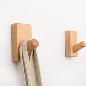 الحائط معطف الملابس مفتاح هات تخزين الرف ذاتية اللصق متفرقات منظم أدوات الخشب شماعات الملابس حامل