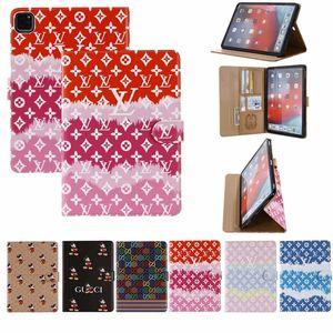 Newest Designer Luxury ipad Case for 2020 ipad pro 11 12.9 Air 10.5 ipad 5 6  mini1 2 3 4 Leather Card Holder Fashion Cover for ipad 10.2