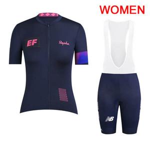 2019 Pro Team EF Eğitim İlk kadınlar bisiklet jersey bib şort set yaz Dağ Bisikleti Giyim Nefes Açık Spor Takım Elbise Y030102