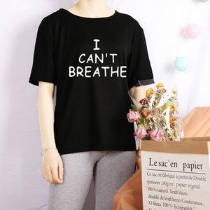 I Cant Breathe 2020 donne maglietta di modo lettere di stampa delle parti superiori delle ragazze di estate T modello Affirmative movimento attivo delle donne vestiti nuovi
