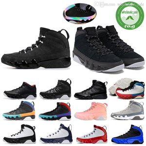 Nike Air Jordan Retro Jumpman 9 9s Racer azul reflexiva Chameleon Bred retro tênis de basquete para Mens Sonhe-Do Ginásio Red UNC Mens treinadores desportivos Sneakers