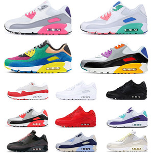 Nike Air Max 90s 90 zapatillas de running para hombre VIOTECH BE TRUE Infrared University Red Grape International blanco negro mujer zapatillas deportivas 36-45