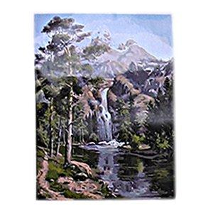 Numaralar tarafından Boyama diy Petrol, (Yetişkinler Kız Çocuklar Noel 16x20inch için Numara Setleri -Stone Pines Landscape- PBN Kit tarafından Fra Boya