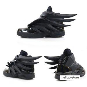 2019 Luxury Designer Jeremy x Original Wings 3.0 Triple Black Sneakers Women Mens Fashion Casual Vintage Personality Boy Girl Shoes
