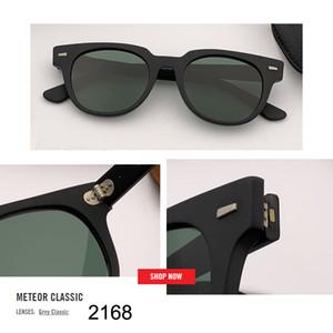 أعلى BRAND DESIGN كلاسيكي مربع النظارات الشمسية الرجال النساء قيادة لوح الإطار 2168 شقة عدسة زجاج نظارات شمسية ذكر حملق UV400 Gafas دي سول
