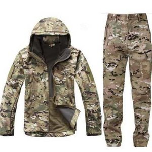 Outdoor Tactical V 5.0 softshell waterproof jackets men hunting clothes outfit hiking jacket thermal sports suits suit plus size T190919