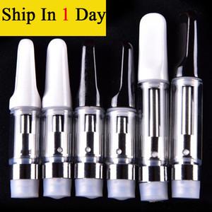 Cigarrillos electrónicos CRE-C Vaporizador 510 Ceramic Drip Tip Cartucho del atomizador O Pluma 0.5ml vapor grueso Cera Tanque de fumar Pyrex Atomizer Cartucho