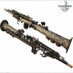 Hochwertige Yanagisawa S901 Neue Musikinstrumente Top B Sopran Saxophon Mattschwarz Professionelle Leistung Freies Verschiffen