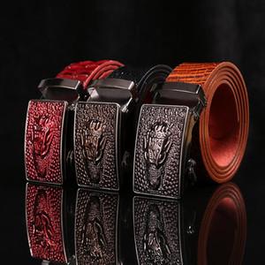 New men's belts, automatic buckle pants belt, business leather belt manufacturers wholesale