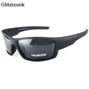 Glitztxunk Polarized Óculos De Sol Da Marca Designer Quadrado Esportes Óculos de Sol Para Os Homens de Condução Preto Frame Óculos De Proteção Uv400 Okulary C19041601