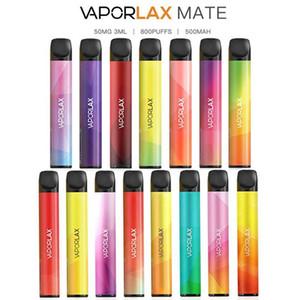 Autentica Vaporlax Mate monouso Pod dispositivo 500mAh 3 ml preriempita Stick Vape Bars sistema portatile di vapore Stix 800 Puff 100% originale