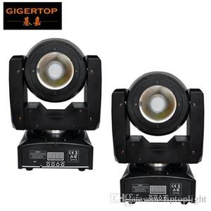 Gigertop 2 وحدات البسيطة 60W الصمام تتحرك عدسة رئيس شعاع الضوء لا في نهاية المطاف دوران الرأس الكبير البلاستيك 4 درجة رخيصة الثمن تحكم DMX