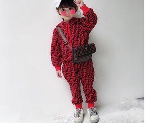 Nova marca hoodies e calças infantis ternos de algodão para crianças dos homens do bebê meninas outono terno esportes bebê terno 2 / set