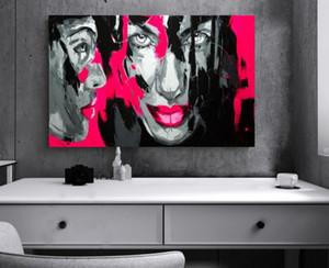 아름다운 벽 사진 사랑스러운 수제 유화 추상 그림 초상화 유화 무료 배송