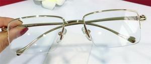 2018 новый дизайнер одежды оптические очки 5634296 квадратные полукадра прозрачные линзы животных ноги Vintage простой стиль прозрачные очки
