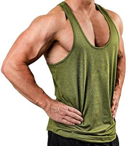 Laufer Trikots Sommer Weste Gym Workout Training Tank Top Männer Sport Tragen Ärmellose 5 Farben Polyester Baumwolle