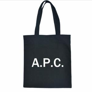 handbagr 2019 nuove donne APC Lettera sacchetto della tela di canapa Tote shopping bag borsa di tela con cerniera tasca vuota Bundle grafema
