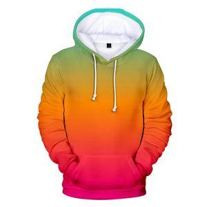 Sudaderas Hombres / Mujeres Sudaderas con capucha personalizado Gradiente camiseta para hombre de los colores sólidos niño / muchachas del arco iris Pullover hombres de la capa de ropa