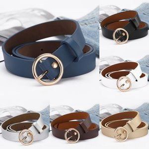 Round buckle simple all-match ins and Pin jeans style student jeans belt decorative pin buckle women's belt