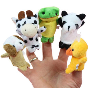 Cartoon Animal Finger Puppet Baby giocattoli peluche per bambini Animal Finger Puppet Baby bambini peluche 10pcs / set