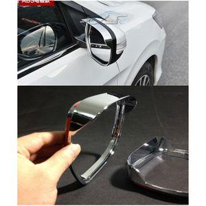 2pcs chrome vue arrière côté miroir pluie pare-pluie garniture garniture pour Honda CRIDER 2013 ~ 2016