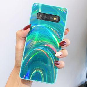 A20 A50 A70 S20 Plus Samsung Note S20 Ultra S8 S9 S10 A71, A51 Kılıfları Holografik Prizma Lazer Tasarımcı Kapak Lüks Glitter Telefon Kılıfı