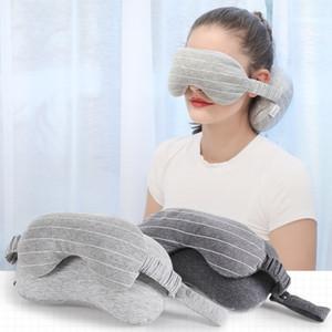 Pescoço Travesseiro Máscara de Olho de Viagem Ao Ar Livre Portátil Travesseiro Pescoço Almofada de Vôo Sono Restante Máscara de Olho Sombreamento Óculos de Olhos Sombra BH2225 CY