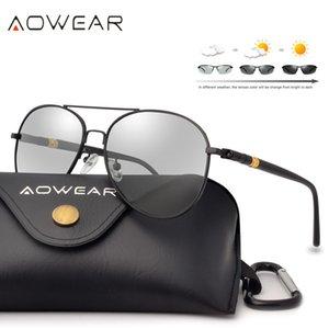 Aowear Pilot Fotokromik Güneş Günü Ve Gece Sürüş Gözlüğü Kadınlar Gölge óculos MX190723 İçin Erkekler Polarize Bukalemun Güneş Gözlükleri