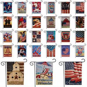American Garden Flag EE. UU. Día de la Independencia Flag Serie de EE. UU. Banderas patrón Día de la Independencia Fiesta Jardín en el hogar Decoración de césped
