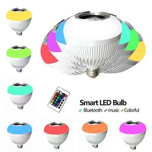 Edison2011 E27 Smart Bulb Dimmable 12w Rgbw Wireless Bluetooth Speaker Bulb Light Music Playing Led Lamp With 24 Keys Remote
