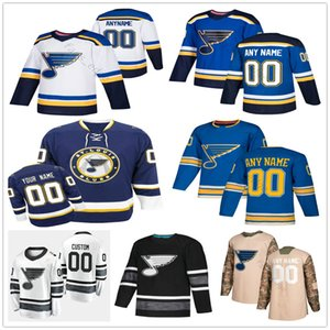 Personalizado St. Louis Blues # 57 David Perron 9 Doug Gilmour 49 Ivan Barbashev 17 Jaden Schwartz Homens Mulher Kids Youth Hockey Jerseys