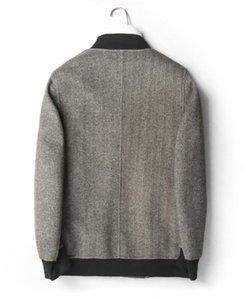 Winter Double Sided Autumn Coat Warm Real Wool Baseball Jacket 2020 Top Qulality Abrigo Hombre D-05-2262 MF645