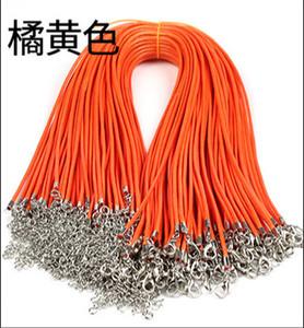 Couro Moda de Nova Wax Serpente Colar Beading Cord corda corrente fio Extender com fecho da lagosta DIY Jóias