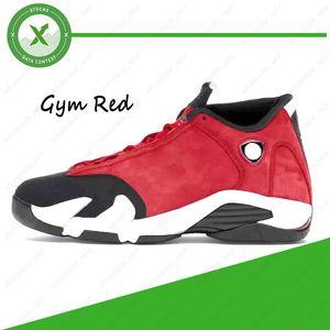 Nuova palestra Rosso 14 14s Hyper Royal Black Toe Fusion Varsity Red Suede Retro pallacanestro degli uomini Scarpe Ultimo colpo di tuono DMP Sneakers