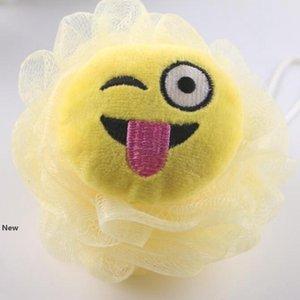 Cartoon emoji shape bath Sponges Bath flower Super soft children Bath ball Home bathroom supplies for kids FFA3255